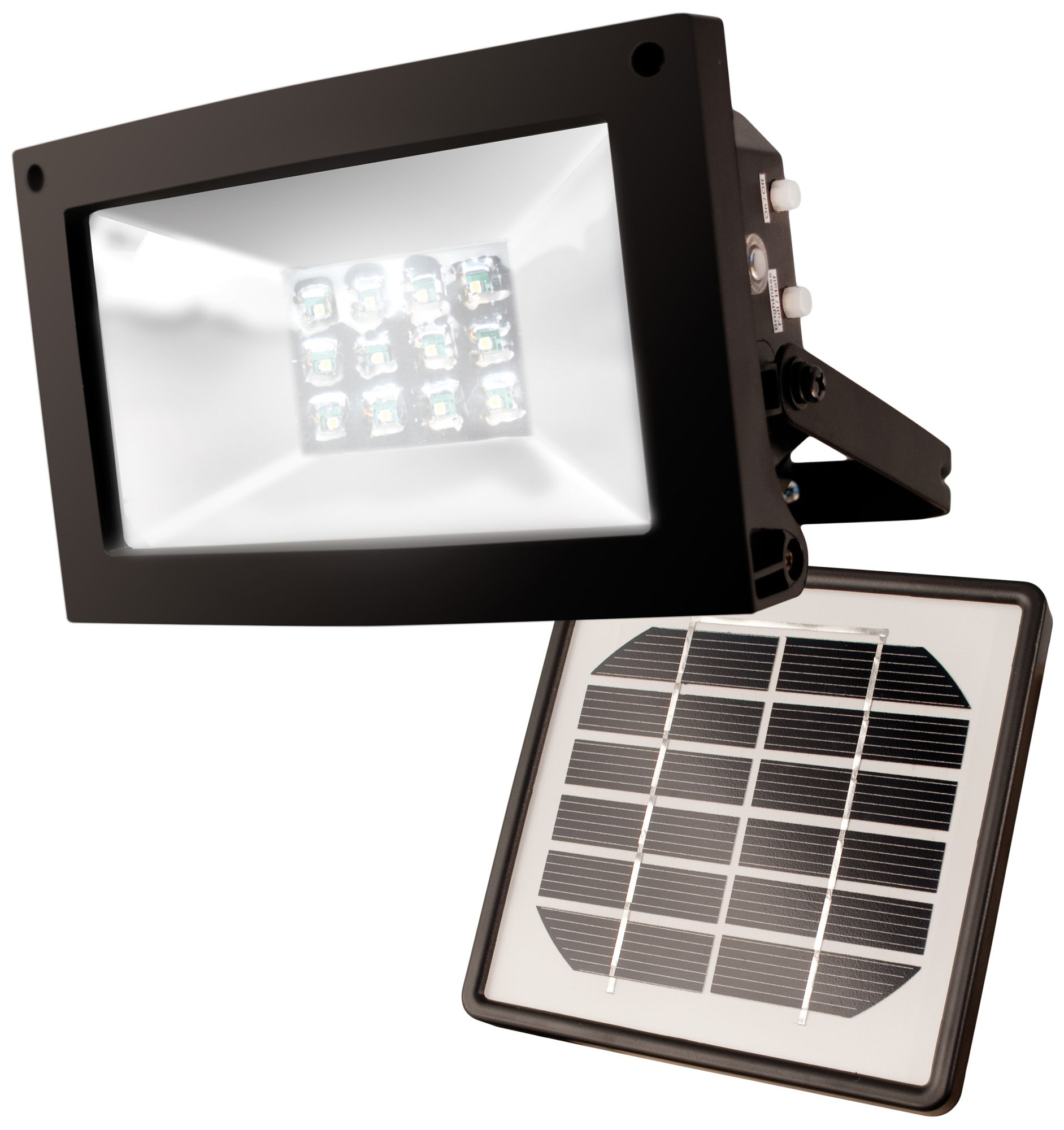Perfect Super Bright 12 LED Dusk Dawn Solar Powered Flood Light