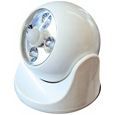 White Battery-Powered Motion-Activated LED Anywhere Light
