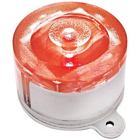 Set of 2 Red LED Solar-Powered Marker Lights