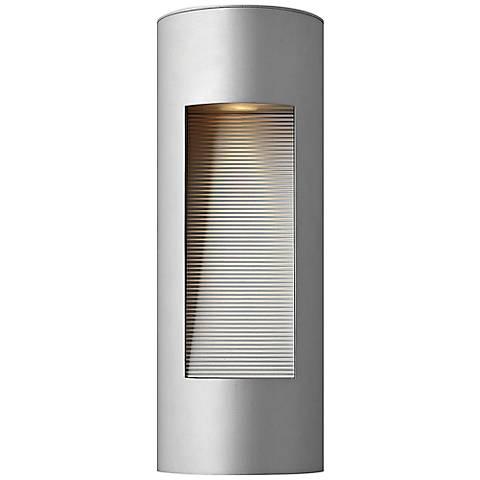 "Hinkley Luna 16"" High LED Titanium Outdoor Wall Light"