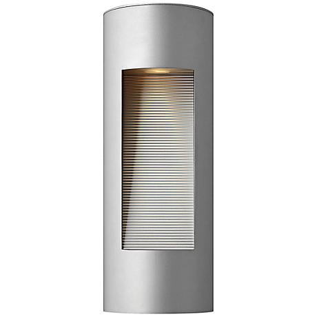 "Hinkley Luna 16"" High LED Titanium Outdoor Wall Light"