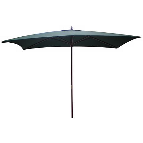 Rectangular Hunter Green Market Table Umbrella