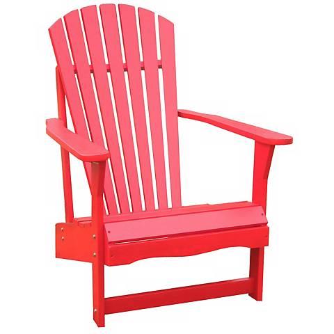 Red Poplar Wood Adirondack Chair