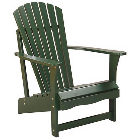 Green Poplar Wood Adirondack Chair