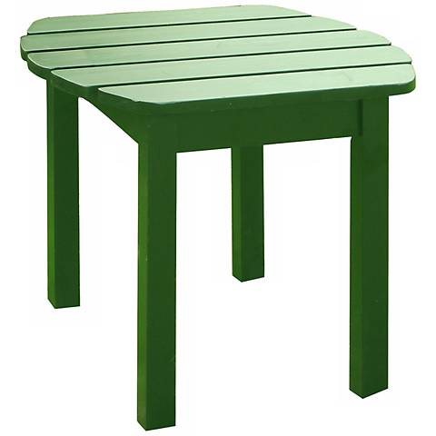 Hunter Green Finish Solid Wood Accent Table