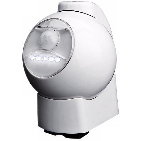 White Battery Powered Motion Activated Outdoor LED Light