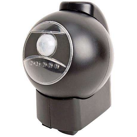 Black Battery Powered Motion Activated Outdoor LED Light