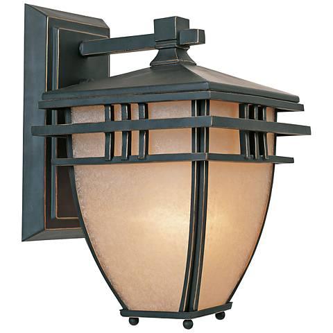 "Dayton 13"" High Aged Bronze Patina Outdoor Wall Light"
