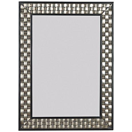 """Woven Champagne 38"""" High Wall Mirror"""