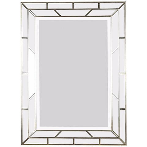 "Silver Web 38"" High Wall Mirror"