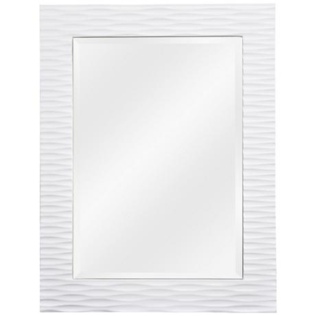"Tranquility Gloss White 39"" High Wall Mirror"