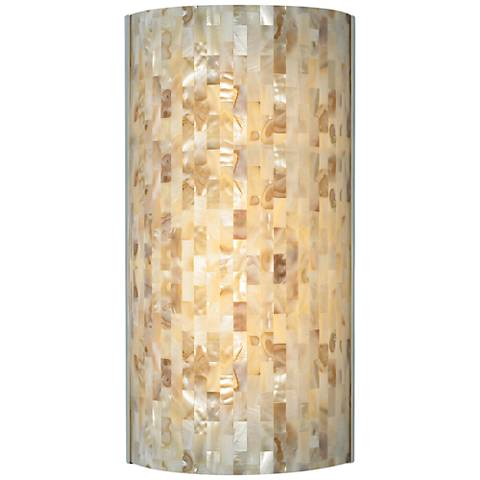 "Tech Lighting Playa 14 3/4""H Natural Shell Wall Sconce"