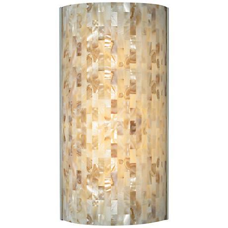 "Tech Lighting Playa 14 3/4""H Natural Shell Wall Sconce"