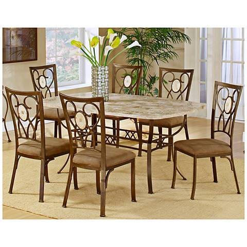 Hillsdale Brookside Scrolling 7 Piece Dining Set