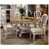 Hillsdale Wilshire Antique White Round 5 Piece Dining Set