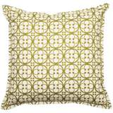 "Green Betsy 18"" Square Flanged Edge Outdoor Pillow"