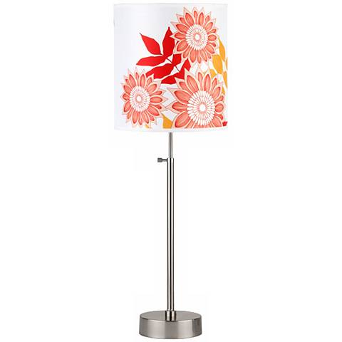 Lights Up! Cancan 2 Anna Red Adjustable Height Table Lamp