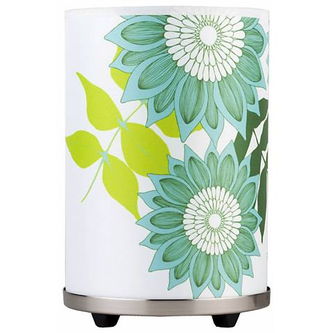 Lights Up! Meridian Small Anna Green Accent Table Lamp