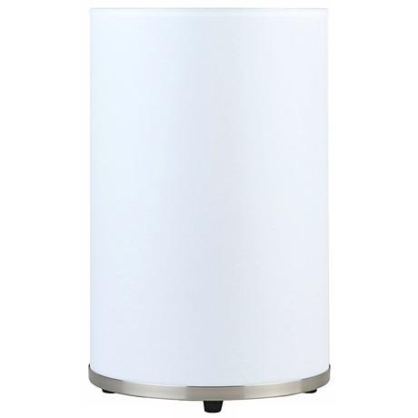 Lights Up! Meridian Medium White Linen Table Lamp