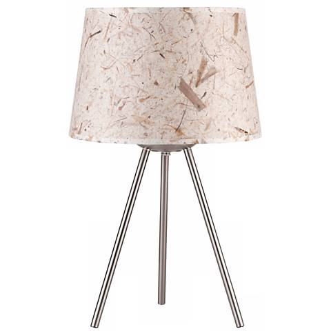 "Lights Up! 20"" High Weegee Small Mango Leaf Paper Table Lamp"