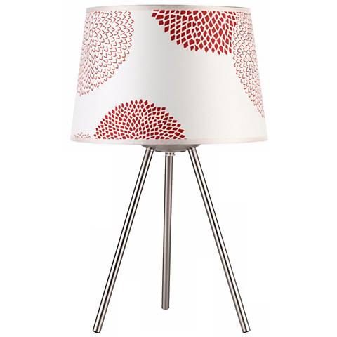 """Lights Up! Weegee Small Red Mumm 20"""" High Table Lamp"""