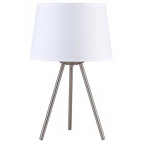 """Lights Up! 20"""" High Weegee Small White Linen Table Lamp"""