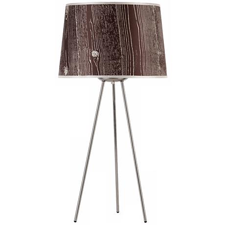 "Lights Up! Weegee Faux Bois Dark 27"" High Table Lamp"