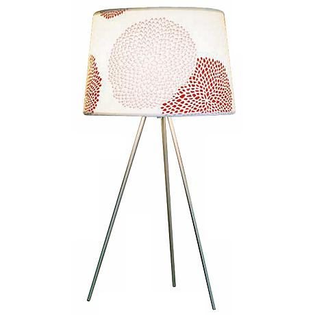 """Lights Up! Weegee Red Mumm 27"""" High Table Lamp"""
