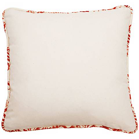 "Bali Antique Red Welt 18"" Square Linen Throw Pillow"