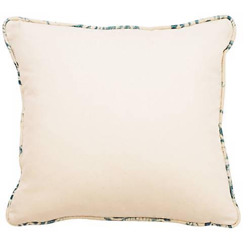 "Bali Antique Blue Welt 18"" Square Linen  Throw Pillow"