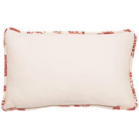 """Bali Antique Red Welt 17"""" Wide Linen Throw Pillow"""