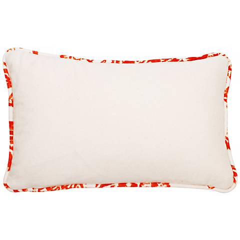 "Bali Bright Orange Welt 17"" Wide Linen Throw Pillow"