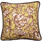 """Vintage Garden Black and Green 18"""" Square Throw Pillow"""