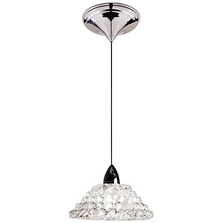 "WAC Giselle 5 1/2""W LED White Diamond Glass Mini Pendant"