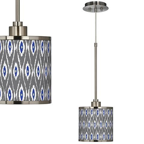 American Ikat Giclee Glow Mini Pendant Light