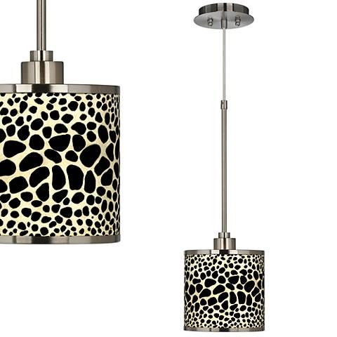Leopard Giclee Glow Mini Pendant Light