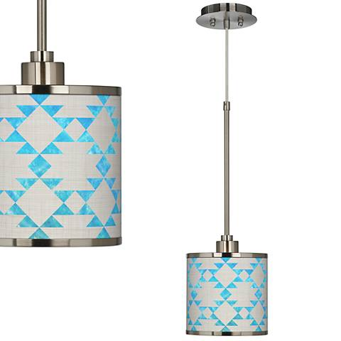 Desert Aquatic Giclee Glow Mini Pendant Light