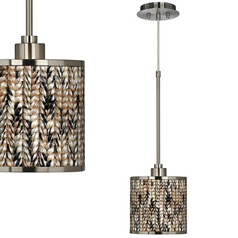 Braided Jute Giclee Glow Mini Pendant Light