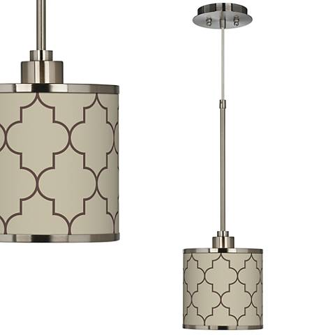 Tangier Taupe Giclee Glow Mini Pendant Light