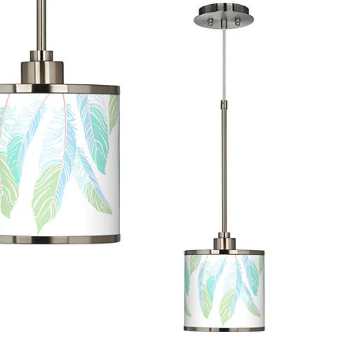 Light as a Feather Giclee Glow Mini Pendant Light
