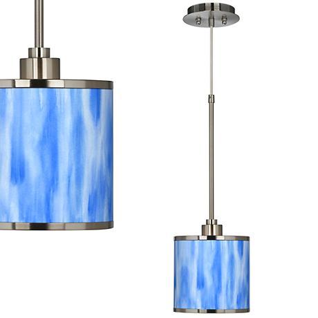 Blue Tide Giclee Glow Mini Pendant Light