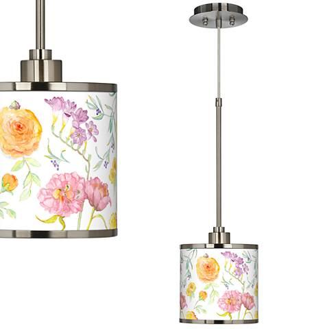 Spring Garden Giclee Glow Mini Pendant Light