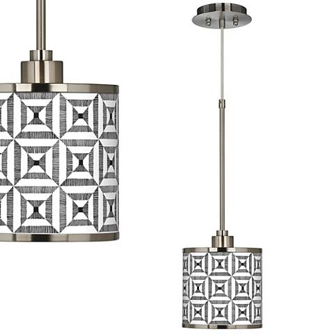 Tile Illusion Giclee Glow Mini Pendant Light