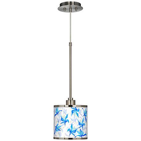 Flora Bleu Giclee Glow Mini Pendant Light