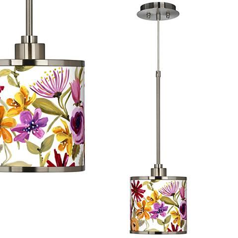 Bountiful Blooms Giclee Glow Mini Pendant Light