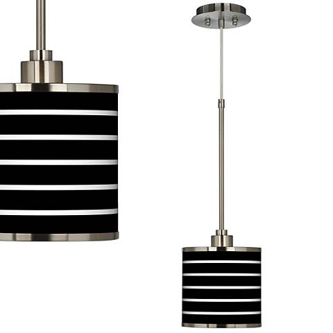 Bold Stripe Giclee Glow Mini Pendant Light