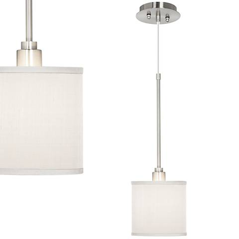 CreamTextured Silk Mini Pendant Light