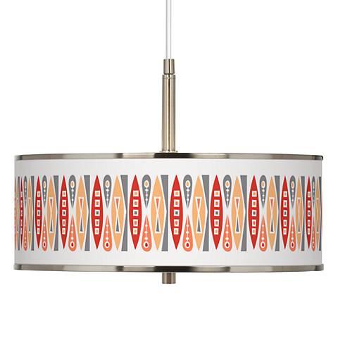 "Vernaculis VI Giclee Glow 16"" Wide Pendant Light"