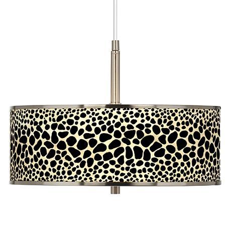 """Leopard Giclee Glow 16"""" Wide Pendant Light"""