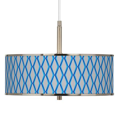 "Bleu Matrix Giclee Glow 16"" Wide Pendant Light"